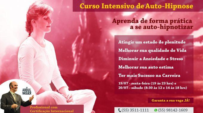 Curso De Auto-Hipnose Será Dia 19/de Julho